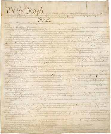 Page 1 of the Constitution of the United States. Source: Wikimedia Commons