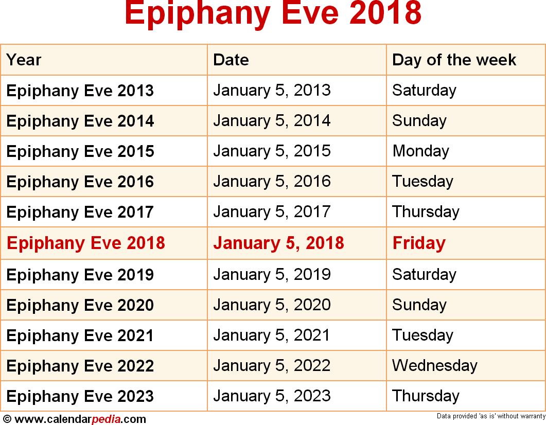 Epiphany Eve 2018