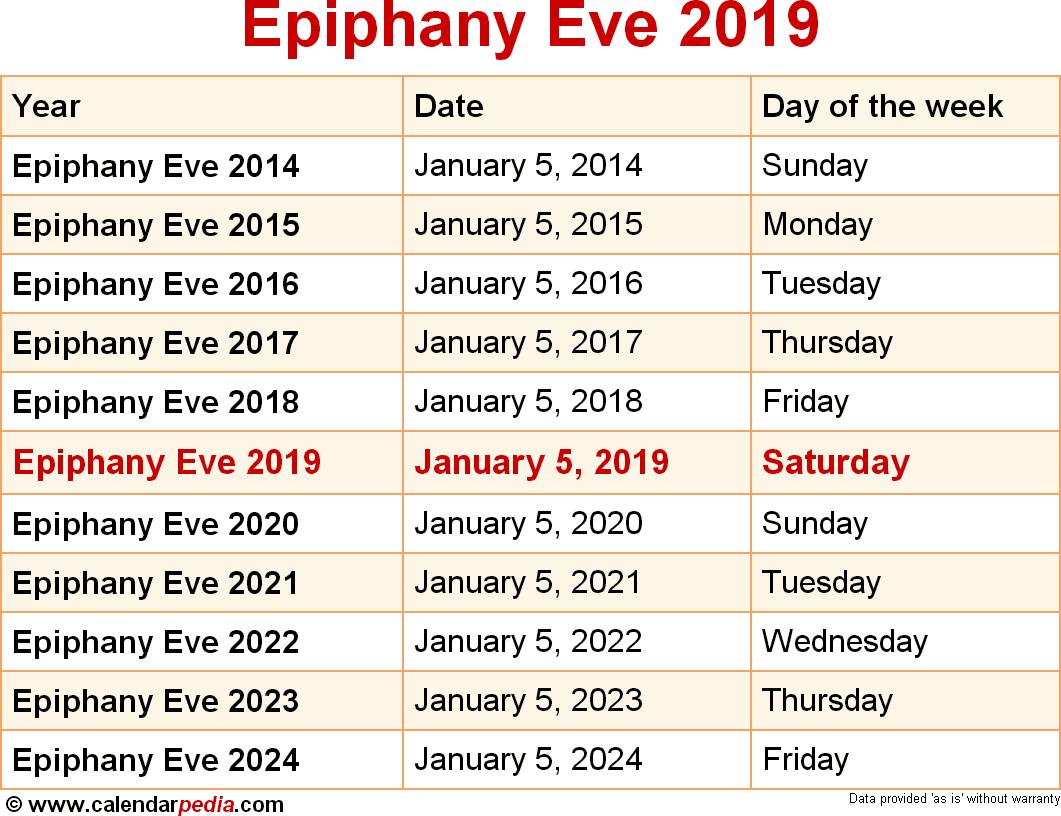 Epiphany Eve 2019