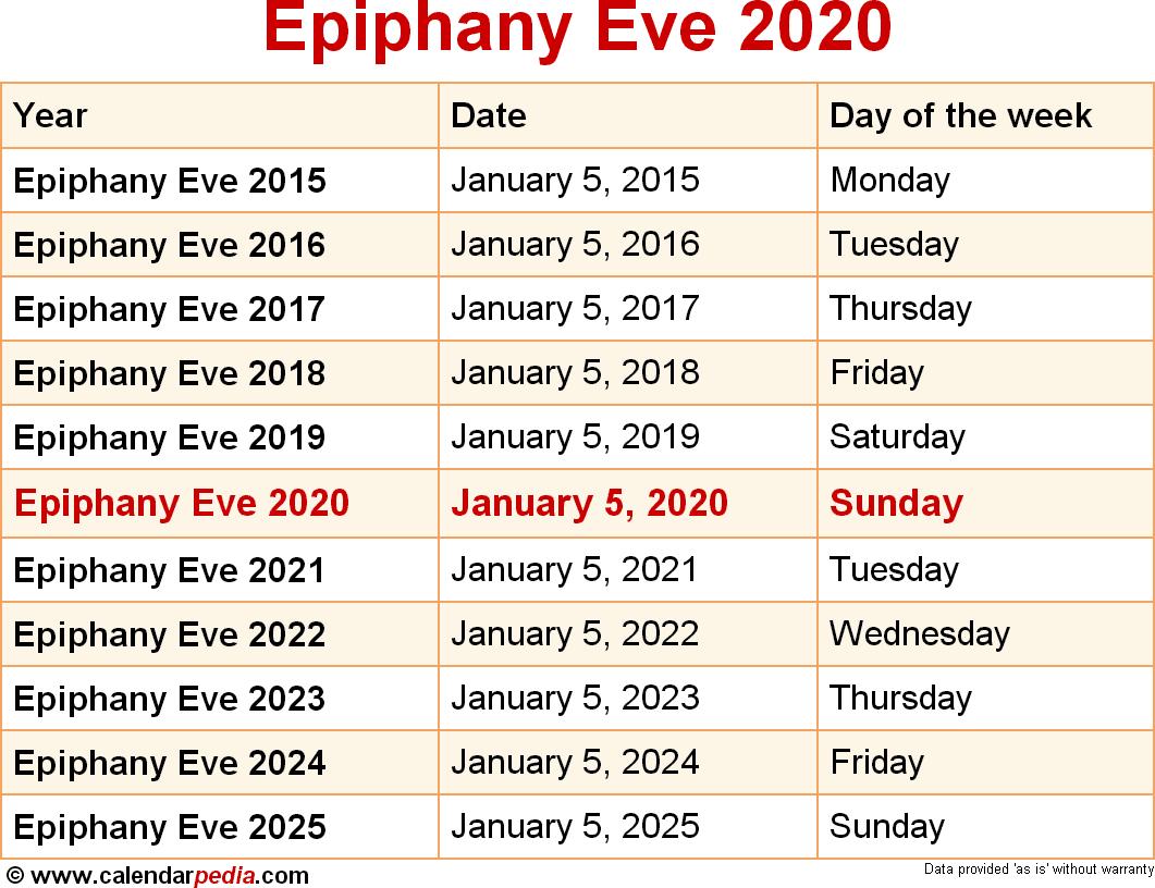 Epiphany Eve 2020