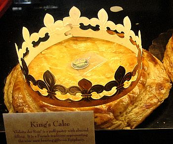"""Epiphany cake (""""king cake""""), traditionally baked on Epiphany Eve"""