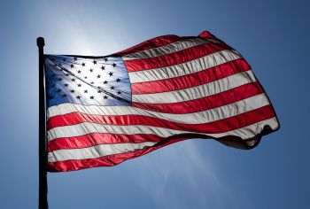 US flag waving on Flag Day. Photo: flickr.com/photos/54637956@N02/5061049945