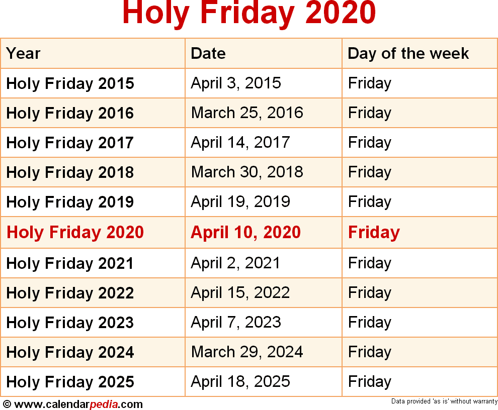Holy Friday 2020