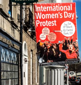 International Women's Day protest poster. Photo: flickr.com/photos/infomatique/12959224984