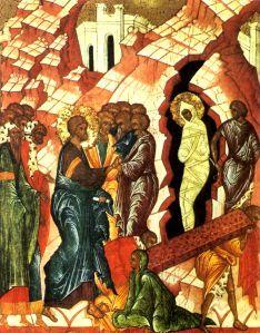 The resurrection of Lazarus on Lazarus Saturday