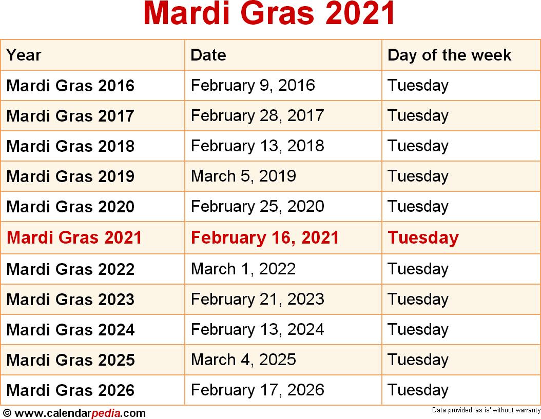 Halloween 2020 Daty When is Mardi Gras 2021?