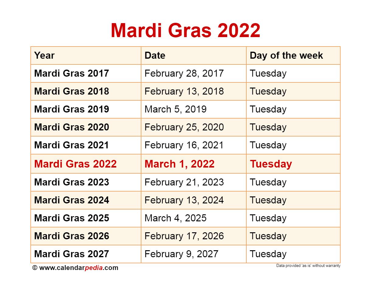 Lsu Academic Calendar 2022 2023.When Is Mardi Gras 2022