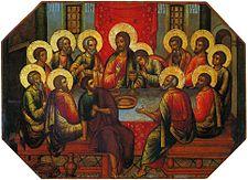 The Mystical Supper, Icon by Simon Ushakov (1685)