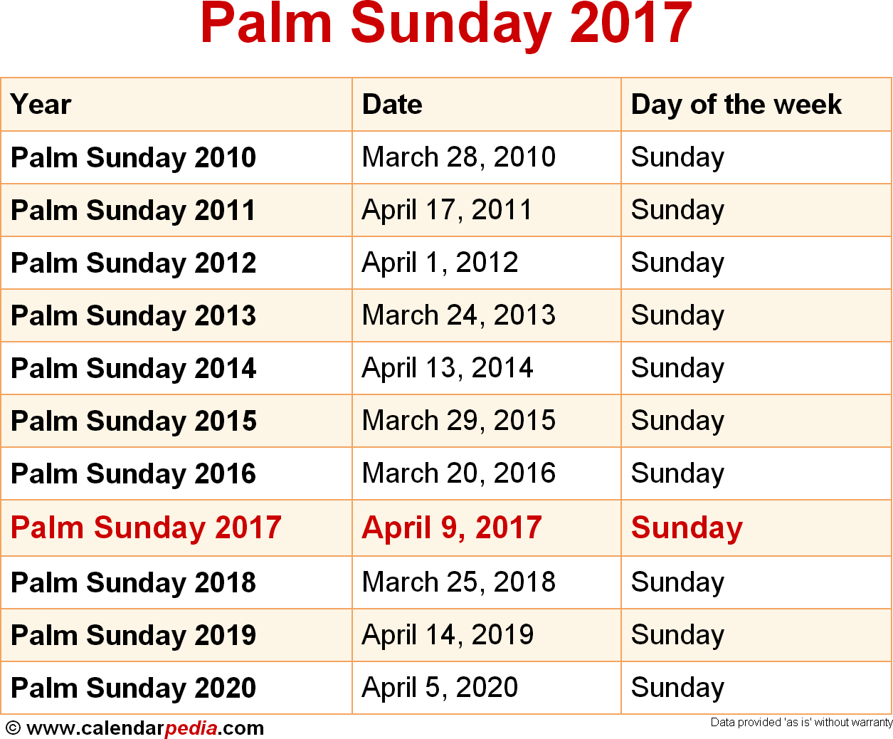 Palm Sunday 2017