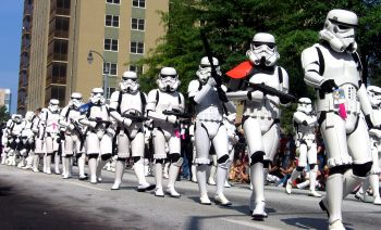 Stormtroopers invade - May the Fourth be with you on Star Wars Day! Photo: flickr.com/photos/palutke/3250319145