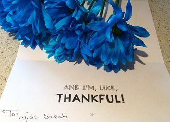 Thank you note for Teacher Appreciation Day. Photo: flickr.com/photos/sackerman519/14199764604