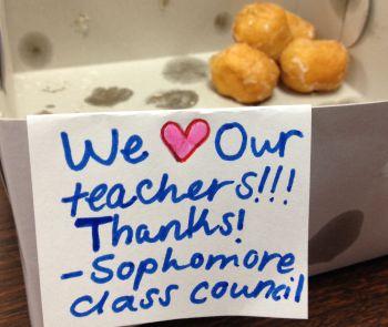 Thanking teachers during Teacher Appreciation Week. Photo: flickr.com/photos/ecastro/14289579753