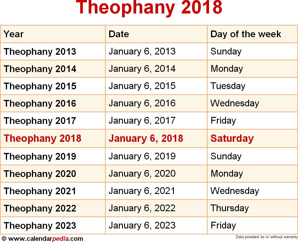 Theophany 2018