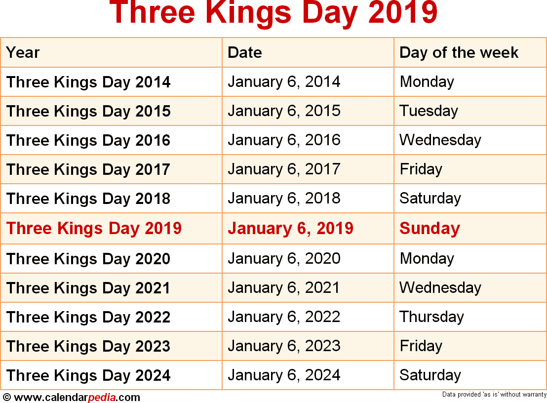 Three Kings Day 2019