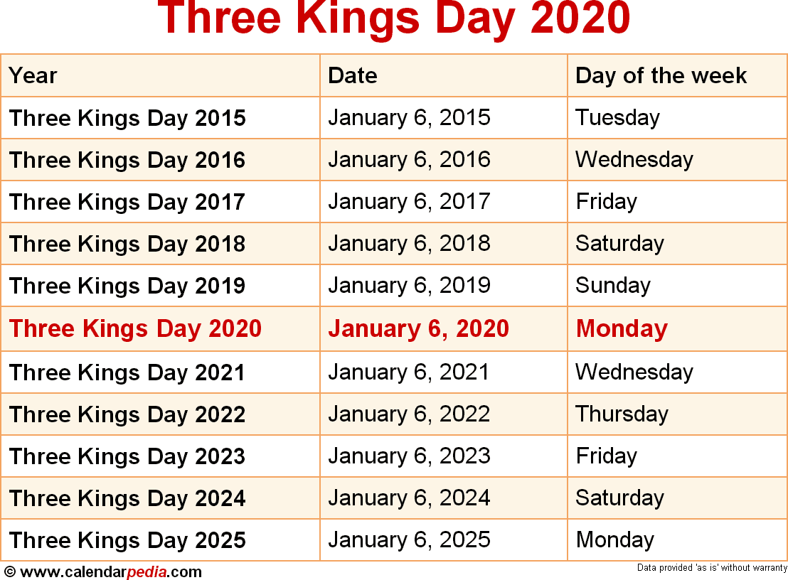 Three Kings Day 2020