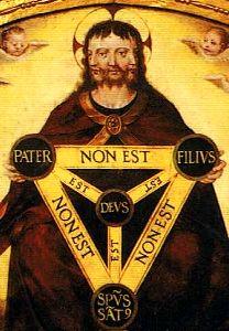 Renaissance image explaining the Holy Trinity