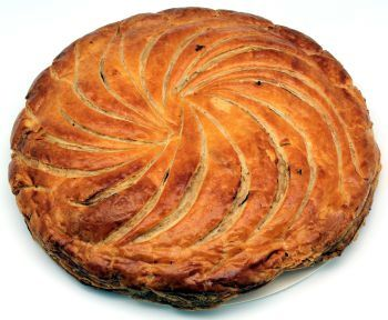 French King cake (galette de rois), traditionally baked on Twelfth Night