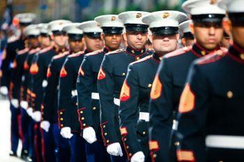 Veterans Day parade. Photo: flickr.com/photos/nycmarines/6339798736